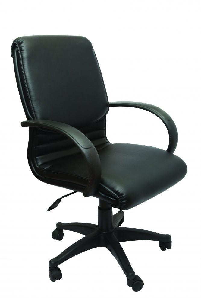 Chair Executive PU Cl610 Mid Back Black
