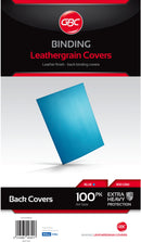 Ibico A4 Leathergrain Cover Blue 100 Pack