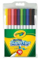 MARKER CRAYOLA SUPER TIP WASHABLE PK10