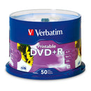 Verbatim DVD+R 4.7GB Printable White 50 Pack