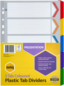 Marbig Indices & Dividers 5 Tab Reinforced A4 Colour