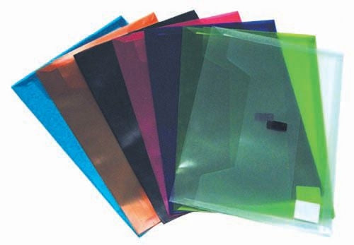 Colby Polywally File Foolscap 327f Lime Clear