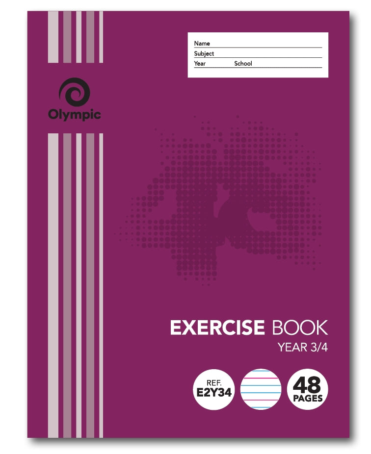 Olympic Exercise Book 48 Page Year 3/4