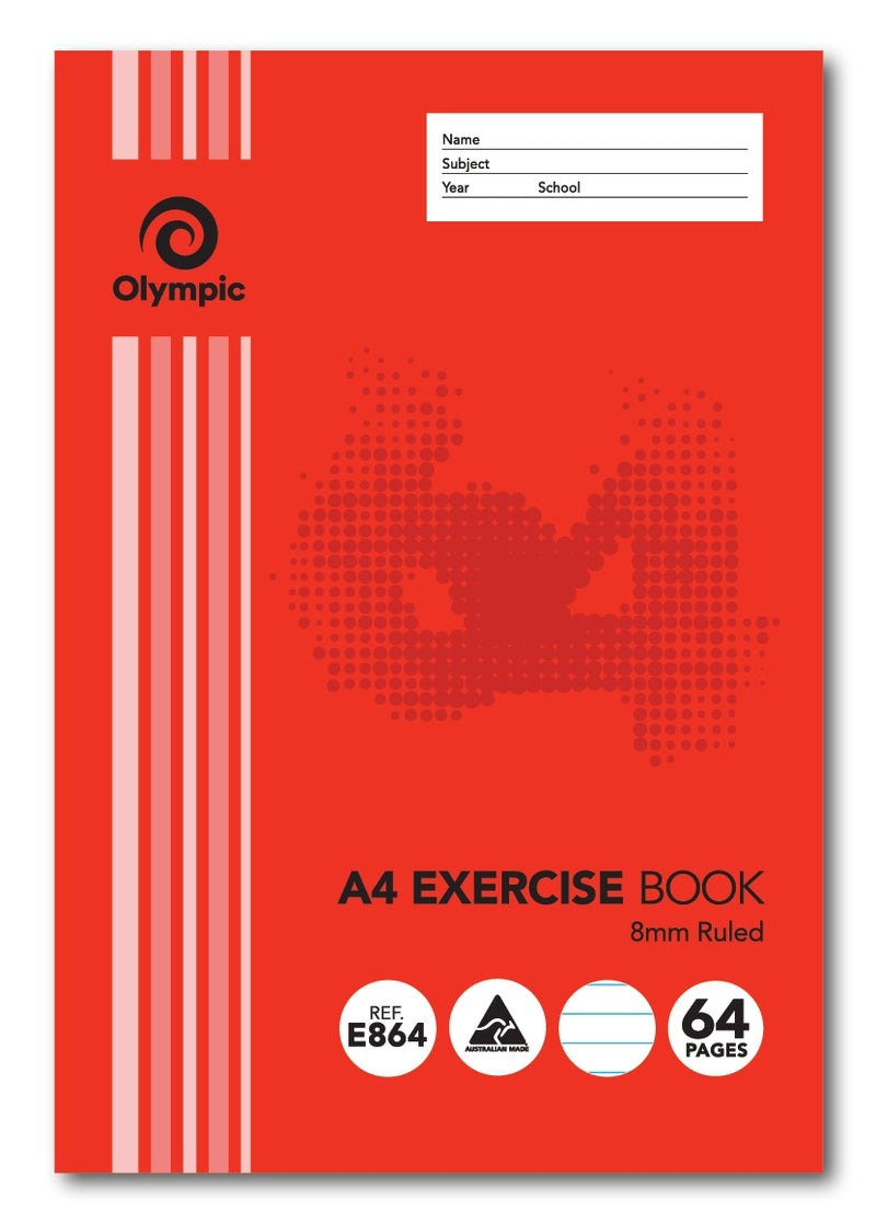 Olympic Exercise Book A4 64 Page
