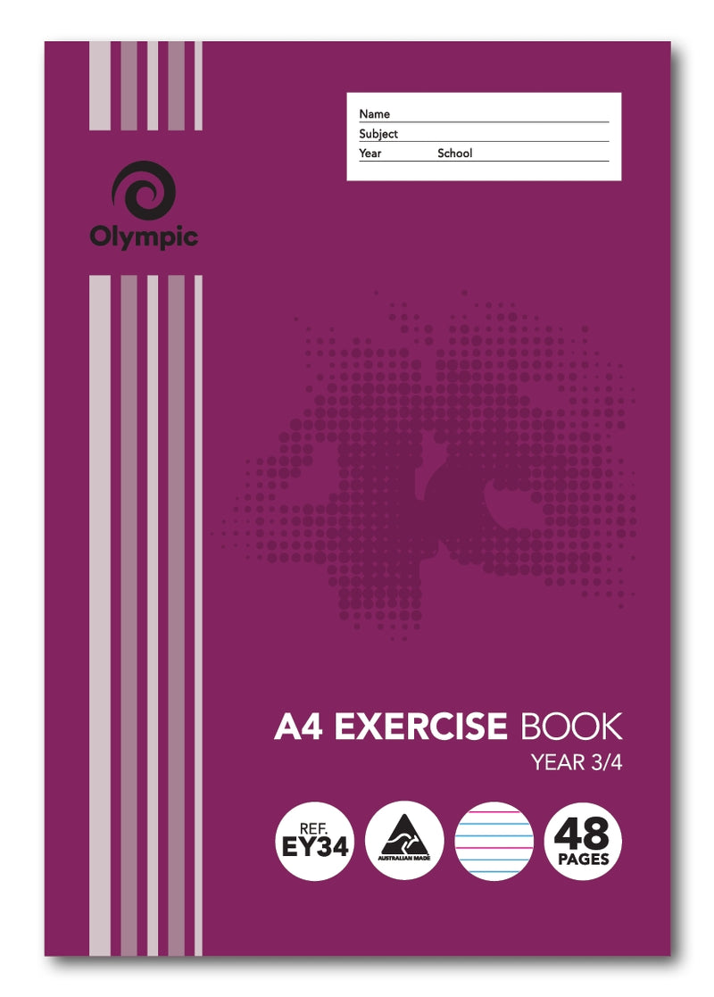 Olympic Exercise Book A4 48 Page Year 3/4