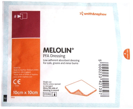 Melolin Dressing For Burns 100x100 100 Pack