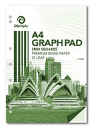 Graph Pad 141372 A4 50 Page 2mm Grid