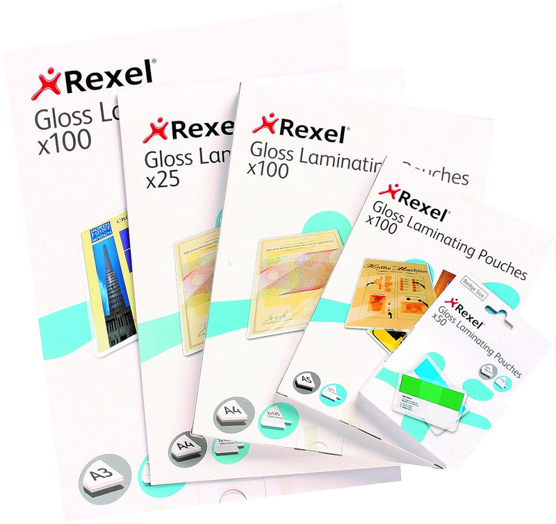Rexel Laminating Pouches A3 2x75mic 100 Pack