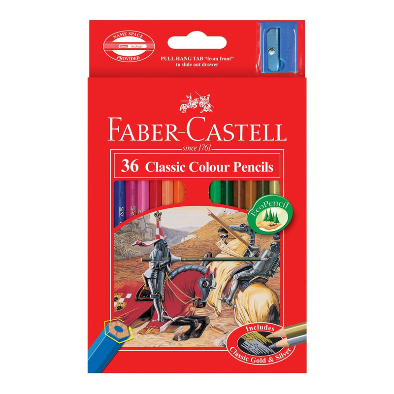 Faber-Castell Classic Colour Pencils Assorted Pack of 36
