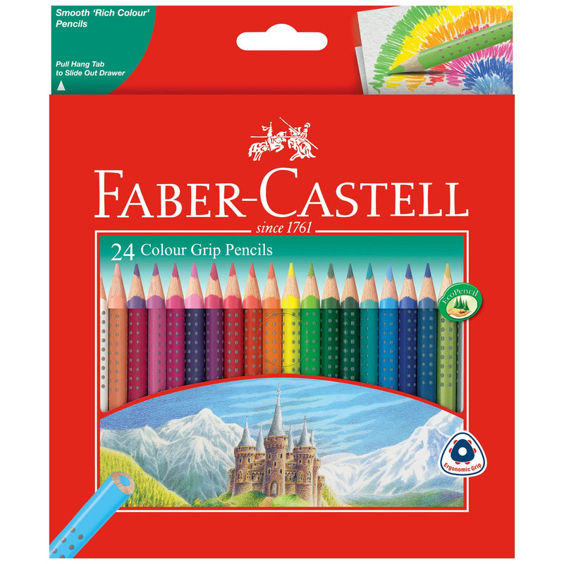 Faber-Castell Grip Colour Pencils Assorted Pack of 24