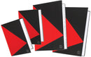 Marbig Notebook Black & Red A4 100 Page