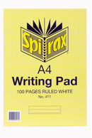 Spirax A4 100 Page Ruled Office Pad White
