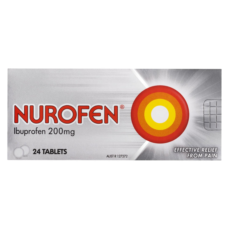 Nurofen Tablets 24s 200mg Ibuprofen anti-inflammatory pain relief