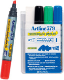 Artline Marker 579 Whiteboard Chisel Assorted Wlt/4