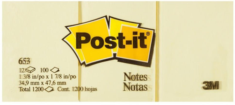 Post-It Notes 34.9mm X 47.6mm 653