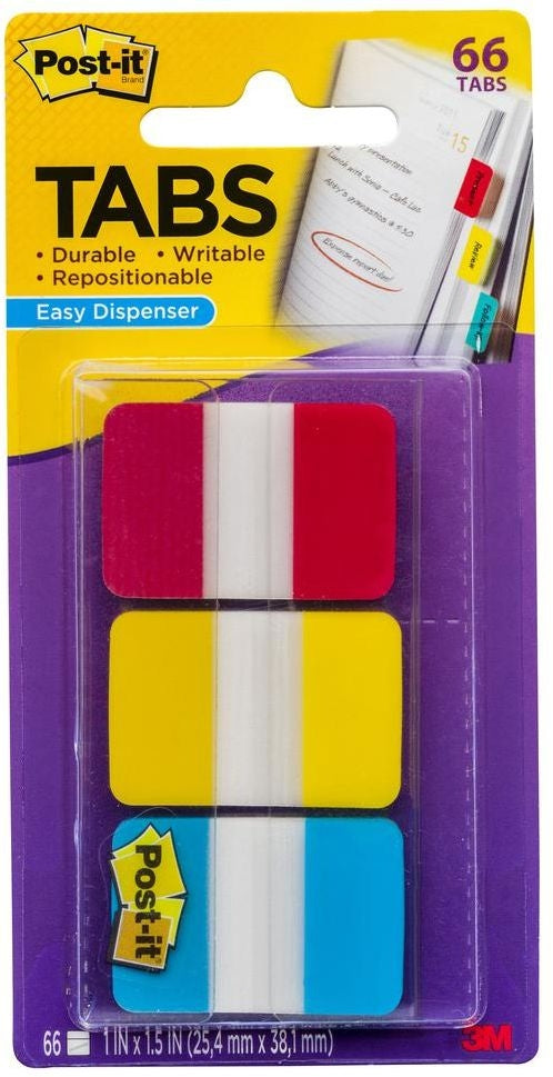 Post It Index Tabs 686RYB Durable