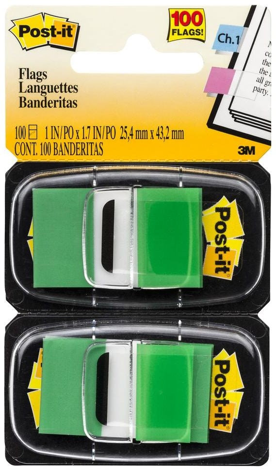 Post It Flags 680GN2 Green Twin Pack