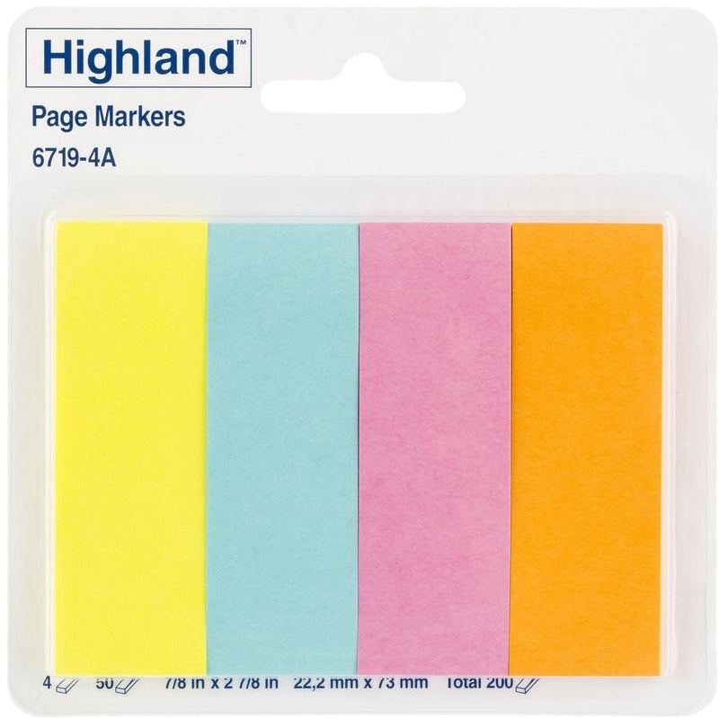 Highland Page Markers 6719 22x73 Assorted