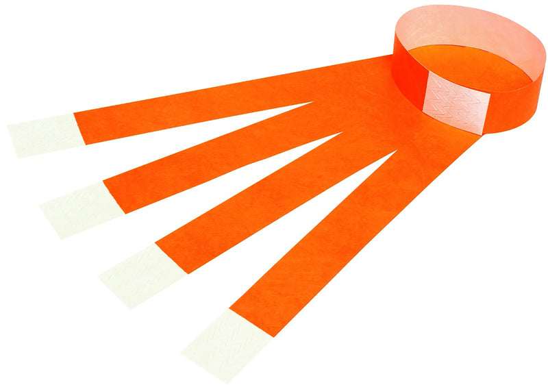 Wrist Bands 9861006 Tyvek® Fluoro Orange