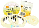 Marbig Tape 87270 Invisible 12mm x 33m Clear Roll