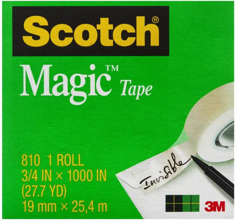 3M 810 Magic Tape 19x25 Value 4 Pack