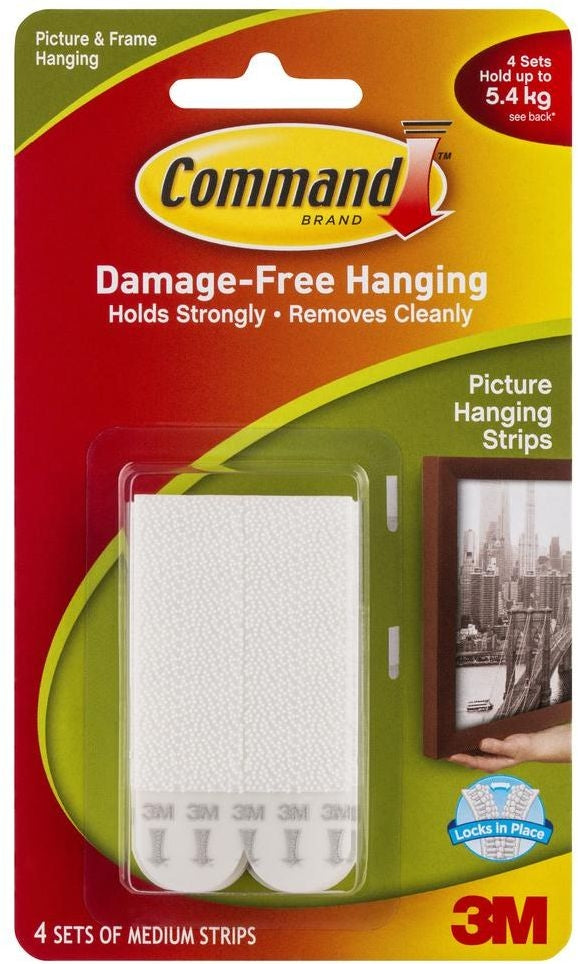 Mounting Products 17201 Picture Hanging Strips Medium White