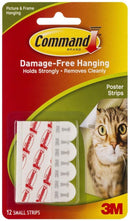 Command Small Poster Strips 12 Pack (17024)