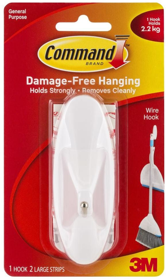 3M Command Large Wire Hook 1 Pack (17069)
