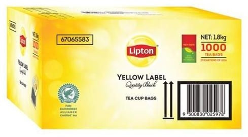 Liptons Tagged Teabags 1000 Pack