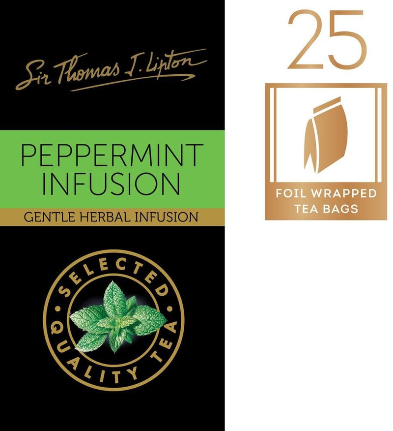 Liptons Sir Thomas Peppermint Teabags 25 Pack