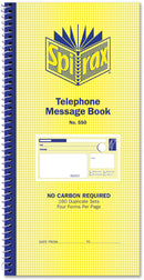 Spirax 550 Telephone Message Bank 160 Pages Carbonless