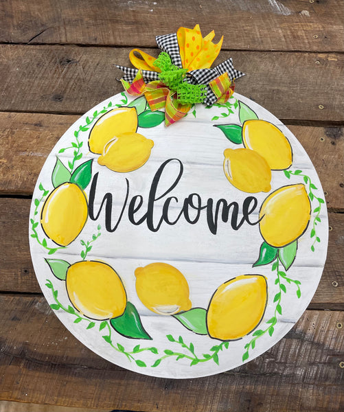 Lemon Welcome Door Hanger - Saturday, March 20th @ 10:30am