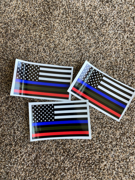 American Flag Colored Decal