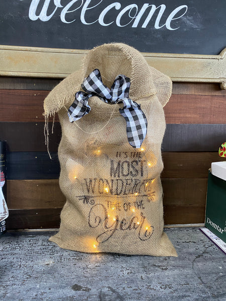 Gnome and Burlap Sack Workshop Saturday, December 5th @ 10:30am