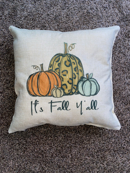 It's Fall Y'all Pillow
