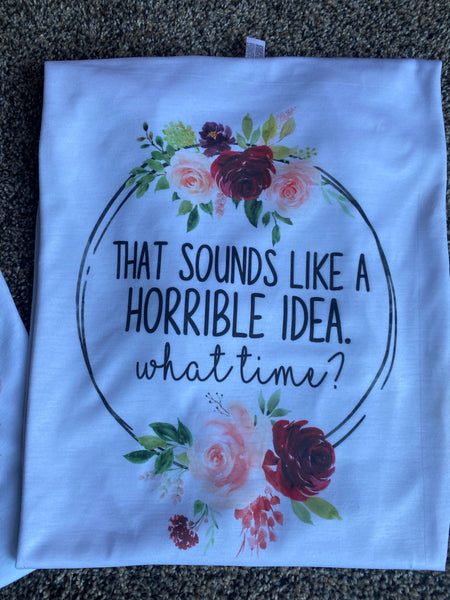 Floral Quote Shirt