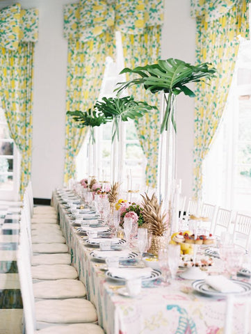 8 trending ideas for a tropical wedding the blush market by the sunny romance of sand and surf the following trending dcor and favor ideas will showcase the laidback elegance of your tropical themed wedding junglespirit Image collections