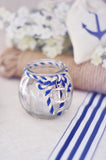 Anchor Nautical Themed Round Globe Votive (Clear Glass)