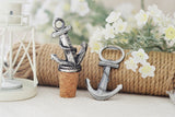 Anchor Nautical Bottle Opener Favor (Antique Silver)