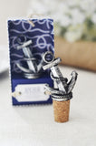 Anchor Nautical Bottle Stopper Favor Cork Wine Stoppers Favor, Gift Box (Antiqued Pewter Finish)