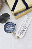 Nautical Anniversary Compass Gift - Here's to a lifetime of adventures together