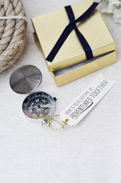 Anniversary Compass Gift - Here's to a lifetime of adventures together