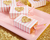 Wedding Favor Heart Scented Soap with Blush and Gold Cute Box