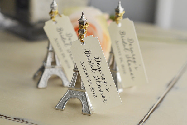 Bridal Shower Favor Paris, Eiffel Tower, Parisian, French inspired Favor with Custom Tag