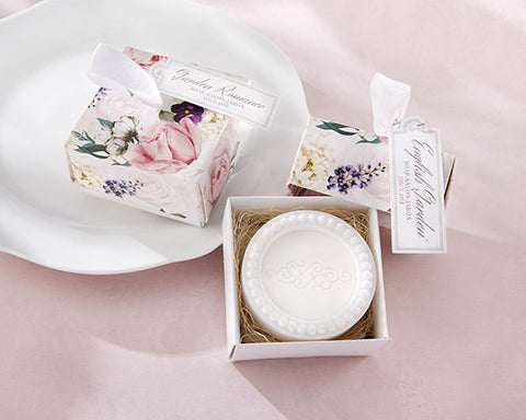 Wedding Favor English Garden Soap with Cute Floral Box