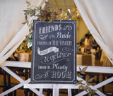 Wedding Ceremony Seating Sign - Chalkboard Canvas
