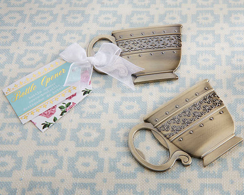 Bridal Shower Favor Tea Time Bottle Opener