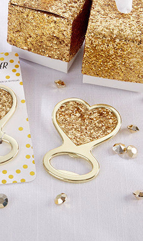 Heart Glitter Bottle Opener (Gold)