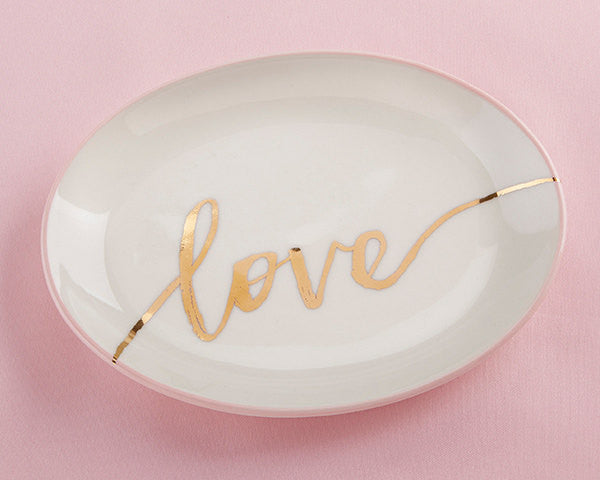 Love Trinket Dish, Bridesmaids Gift, Maid of Honor Gift, Flower Girl Gift, Bride Gift
