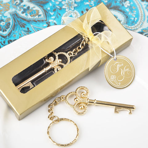 Gold Skeleton Key Wedding Favor Gift Bridesmaid Gift Maid of Honor Gift
